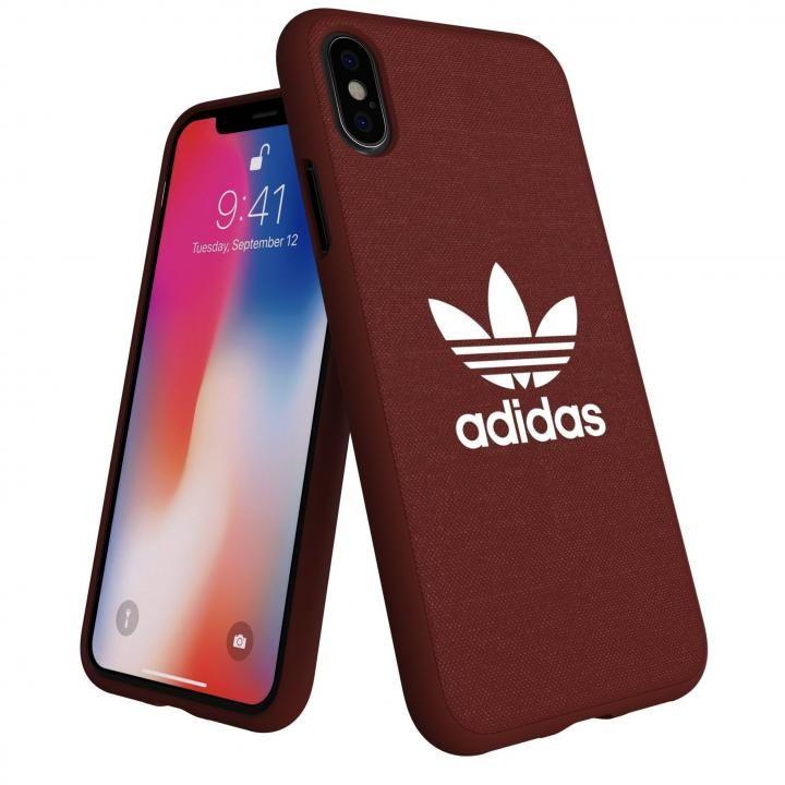 iPhone XS/X ケース adidas AdicolOriginals Moulded Case マルーン iPhone XS/X_0