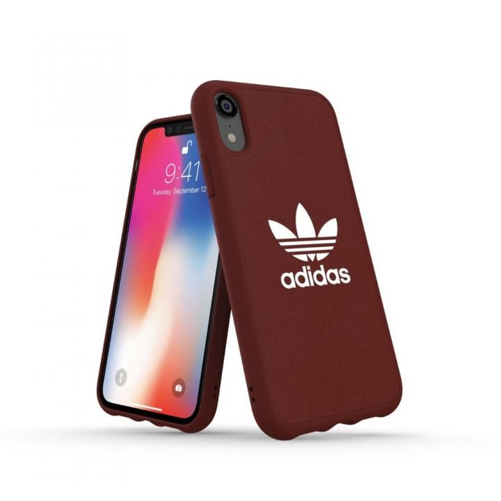 iPhone XR ケース adidas OR Adicolor Originals Moulded Case マルーン iPhone XR_0