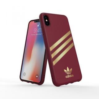 iPhone XS Max ケース adidas OR Moulded Case SAMBA バーガンディ/ゴールド iPhone XS Max