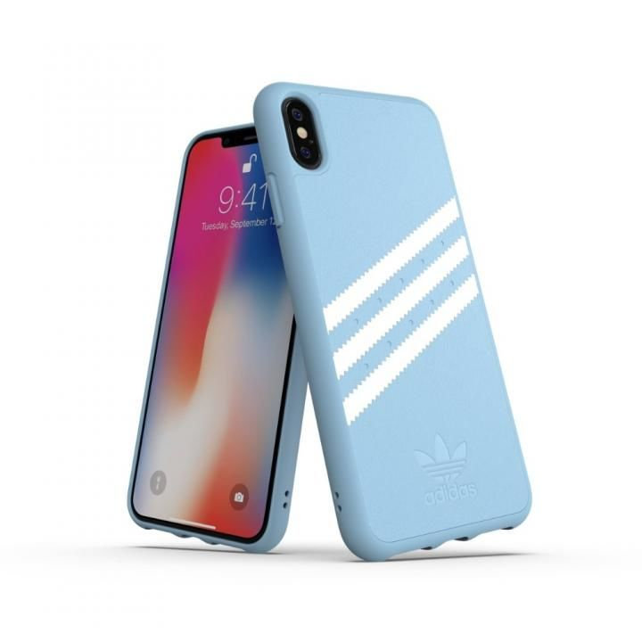 iPhone XS Max ケース adidas OR Moulded Case GAZELLE ブルー iPhone XS Max【7月上旬】_0
