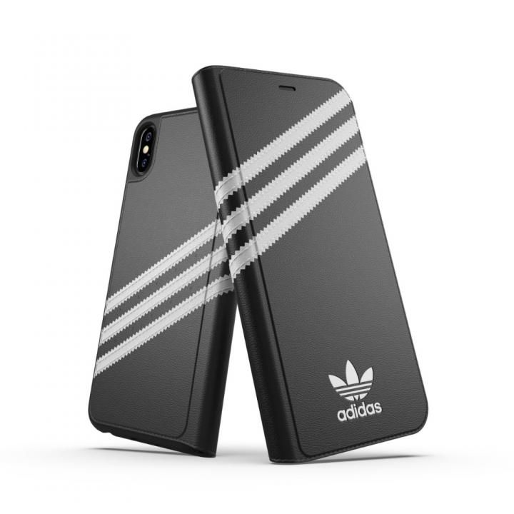 iPhone XS Max ケース adidas OR Booklet Case SAMBA ブラック/ホワイト iPhone XS Max_0