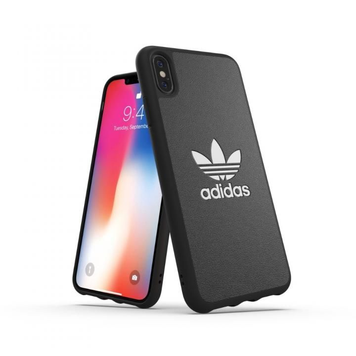 iPhone XS Max ケース adidas OR TPU Moulded Case BASIC ブラック/ホワイト iPhone XS Max_0