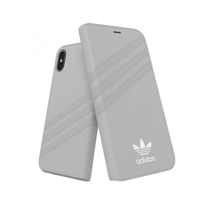 iPhone XS/X ケース adidas OR Booklet Case GAZELLE グレイ iPhone XS/X_0
