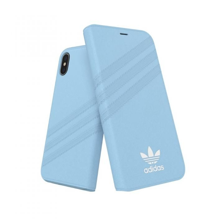 iPhone XS/X ケース adidas OR Booklet Case GAZELLE ブルー iPhone XS/X_0