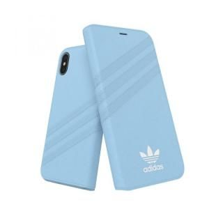 iPhone XS/X ケース adidas OR Booklet Case GAZELLE ブルー iPhone XS/X
