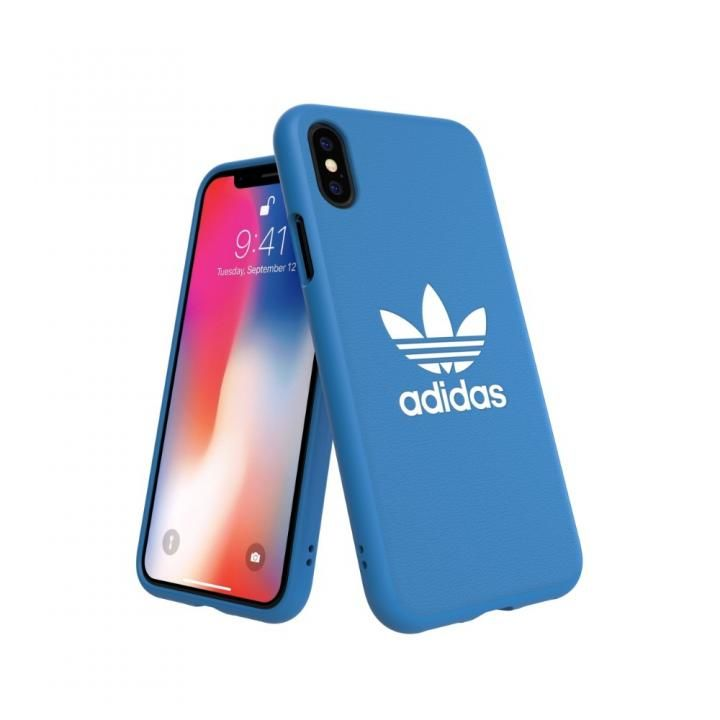 iPhone XS/X ケース adidas OR TPU Moulded Case BASIC ブルーバード/ホワイト iPhone XS/X_0