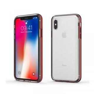 【iPhone XS Maxケース】ACHROME SHIELD プレミアムケース マットレッド iPhone XS Max