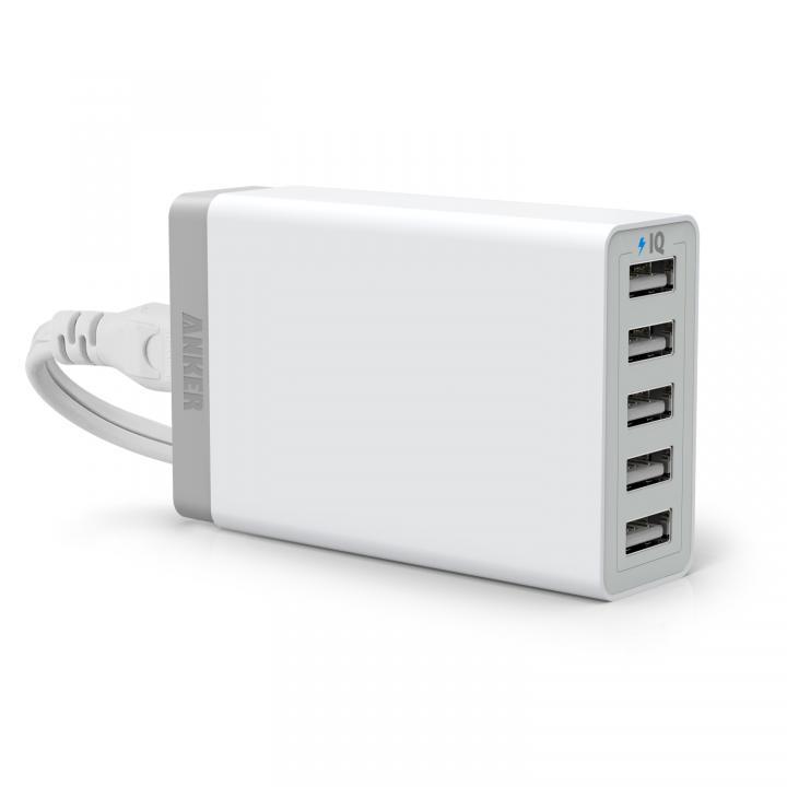 Anker 40W 5ポート急速USB充電アダプタ PowerIQ搭載 ホワイト