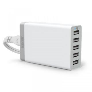[学園祭特価]Anker 40W 5ポート急速USB充電アダプタ PowerIQ搭載 ホワイト【10月下旬】