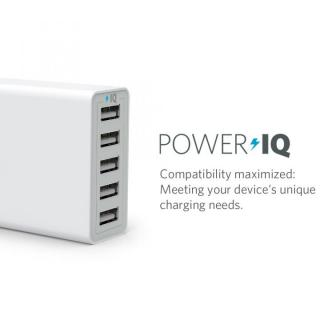 Anker 40W 5ポート急速USB充電アダプタ PowerIQ搭載 ホワイト_1