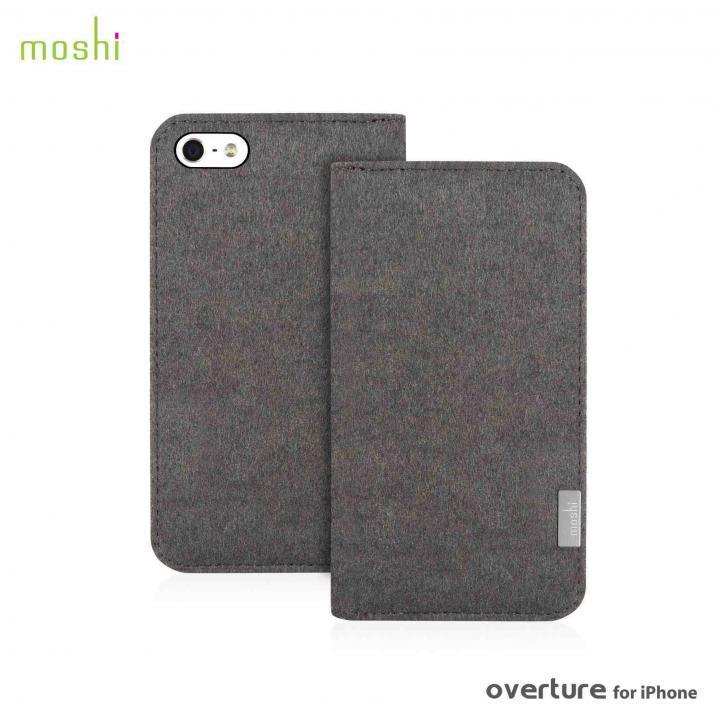 【iPhone SE/5s/5ケース】moshi Overture  iPhone SE/5s/5 手帳型ケース Falcon Gray_0