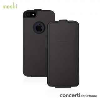 moshi Concerti  iPhone SE/5s/5 手帳型ケース Metallic Black