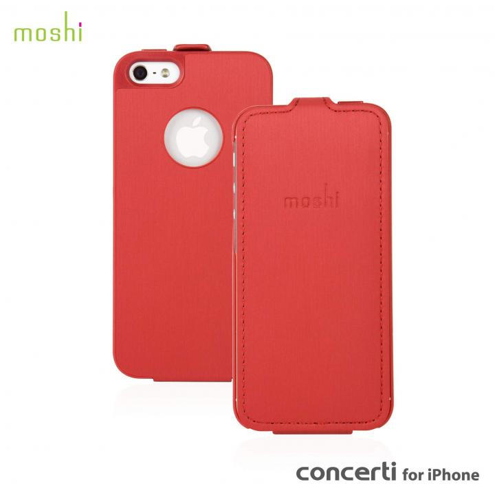 【iPhone SE/5s/5ケース】moshi Concerti  iPhone SE/5s/5 手帳型ケース Cranberry Red_0