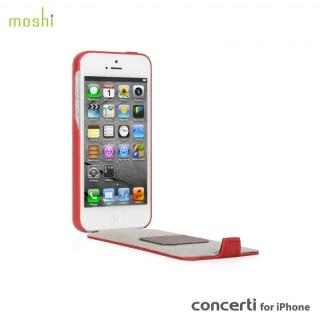 【iPhone SE/5s/5ケース】moshi Concerti  iPhone SE/5s/5 手帳型ケース Cranberry Red_1