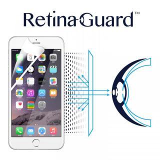 ブルーライト90%カット液晶保護フィルム RetinaGuard ホワイトベゼルiPhone 6s Plus/6 Plus