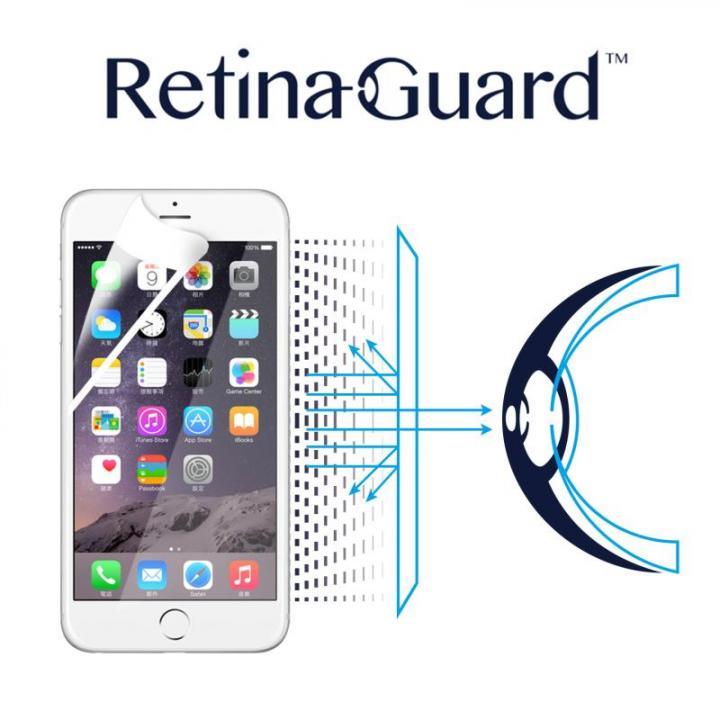 ブルーライト90%カット液晶保護フィルム RetinaGuard ホワイトベゼル iPhone 6s/6フィルム