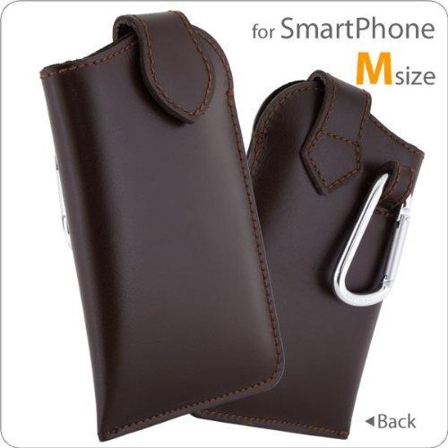 iPhone SE/5s/5 ケース ハンドメイド・ソフトレザー マルチケース Mサイズ(ブラウン)_0