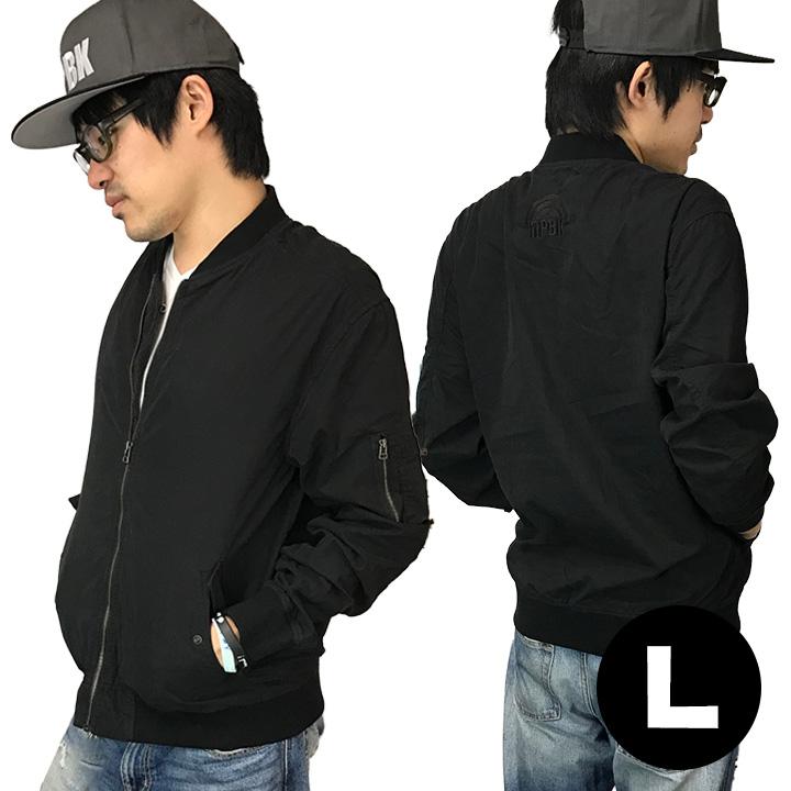 AppBankオリジナル UPBK ライトMA-1ジャケット ブラック Lサイズ_0