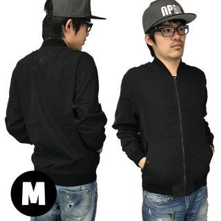 AppBankオリジナル UPBK ライトMA-1ジャケット ブラック Mサイズ