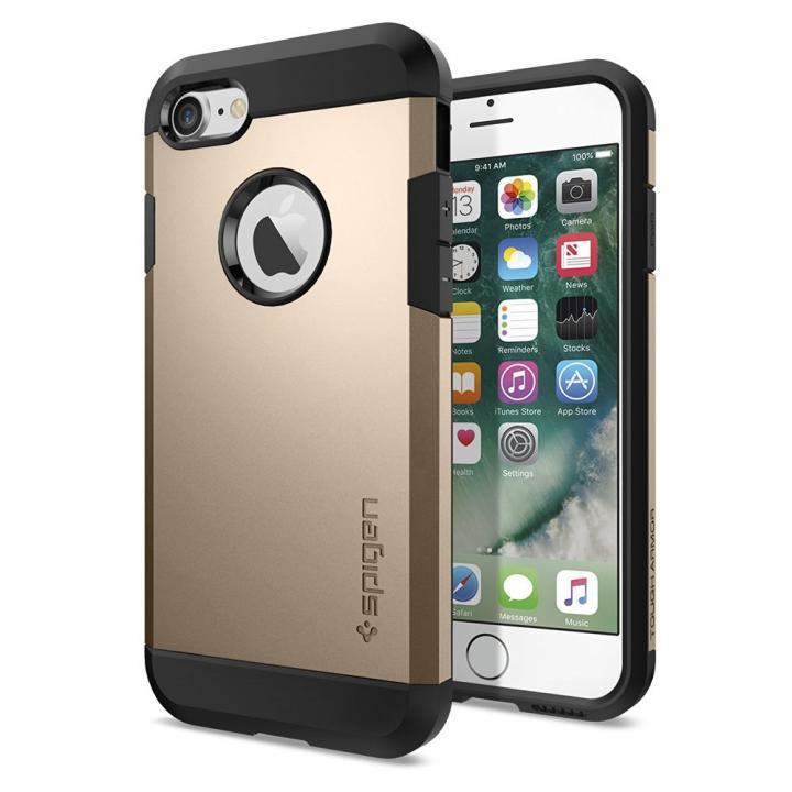 Spigen タフアーマーケース シャンパンゴールド iPhone 7