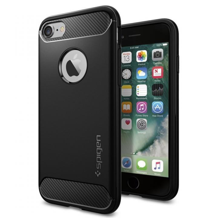 【iPhone8/7ケース】Spigen ラギットアーマーケース ブラック iPhone 8/7_0