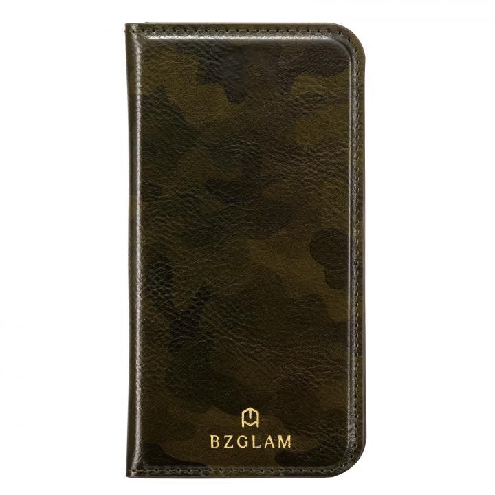 BZGLAM カモフラージュ手帳型ケース グリーン iPhone 7 Plus