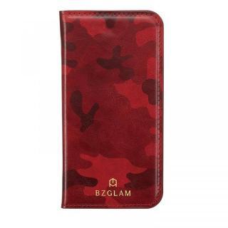 【iPhone7ケース】BZGLAM カモフラージュ手帳型ケース レッド iPhone 7