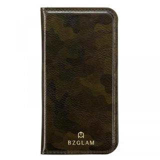 【iPhone7ケース】BZGLAM カモフラージュ手帳型ケース グリーン iPhone 7
