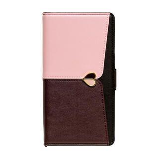 iPhone 13 mini (5.4インチ) ケース 手帳型ケース JUDY ピンク×ブラウン iPhone 13 mini【11月中旬】
