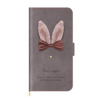 iPhone 13 ケース 手帳型ケース Petit Lapin モカ iPhone 13【11月中旬】