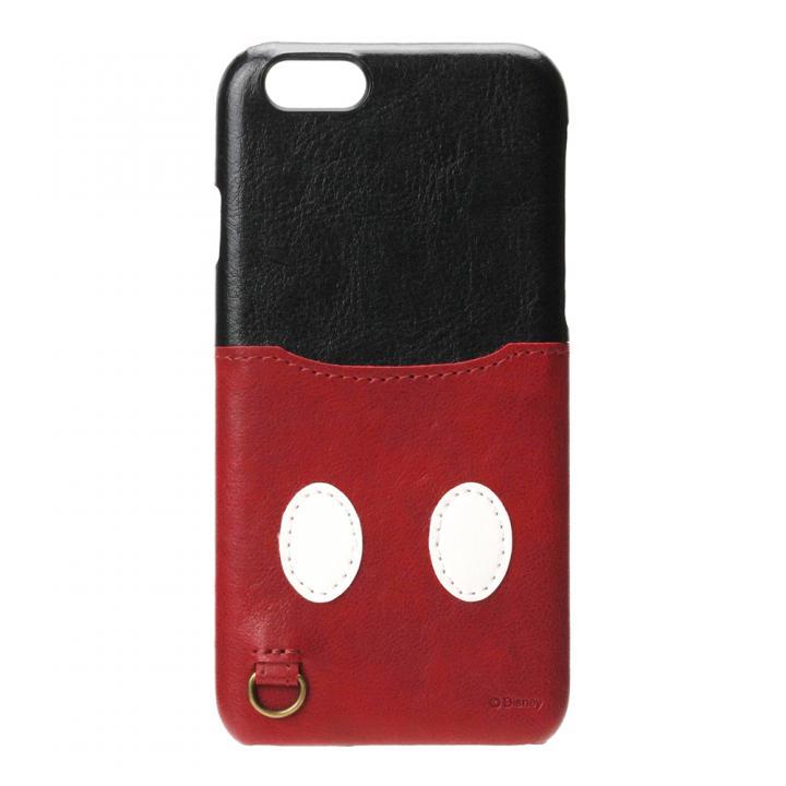 【iPhone6s/6ケース】カードポケット搭載 PUレザーケース ポケット付き ミッキーマウス iPhone 6s/6_0