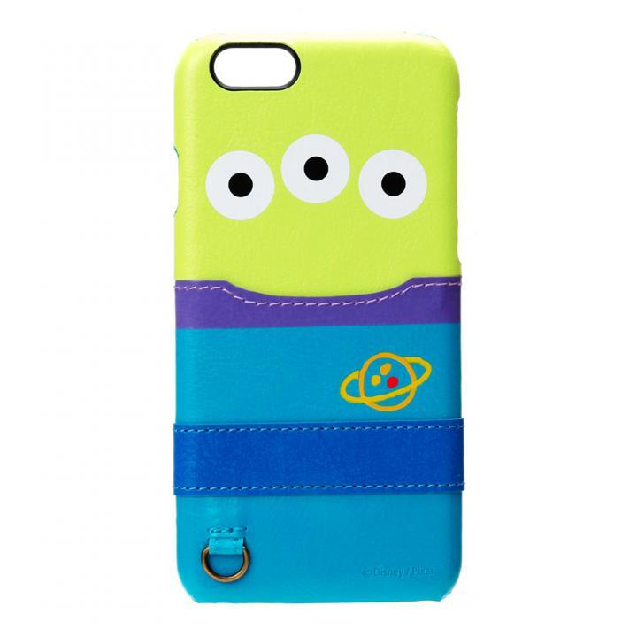 【iPhone6s/6ケース】カードポケット搭載 PUレザーケース ポケット付き エイリアン iPhone 6s/6_0
