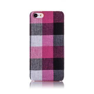 ファブリックカバーセット ピンクチェック iPhone 5cケース