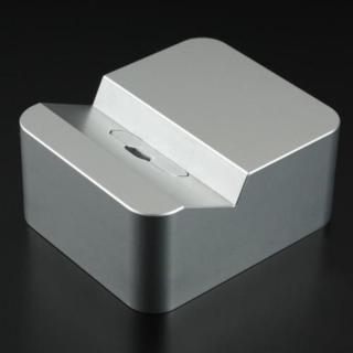 クレードル Apple純正 Lightning USBケーブル対応 シルバー