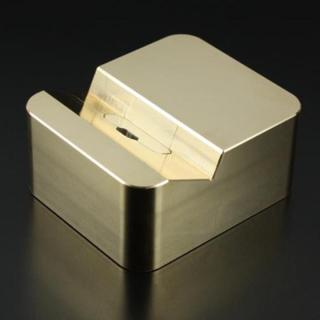 クレードル Apple純正 Lightning USBケーブル対応 ブラス(真鍮)