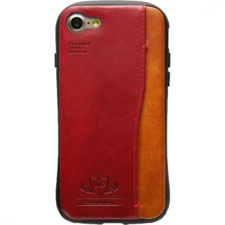 衝撃吸収 背面カードポケット付きケース  FLAMINGO レッド iPhone 7