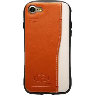 衝撃吸収 背面カードポケット付きケース  FLAMINGO オレンジ iPhone 8/7