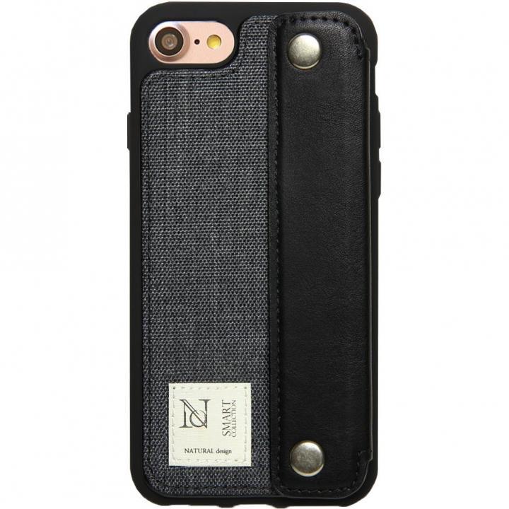 【iPhone8/7ケース】衝撃吸収 背面カードポケット付きケース CAMPANELLA ブラック/横入れ iPhone 8/7_0