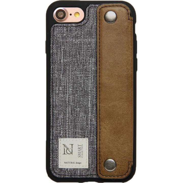【iPhone8/7ケース】衝撃吸収 背面カードポケット付きケース CAMPANELLA グレイ/横入れ iPhone 8/7_0