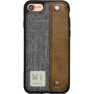 衝撃吸収 背面カードポケット付きケース CAMPANELLA グレイ/横入れ iPhone 7