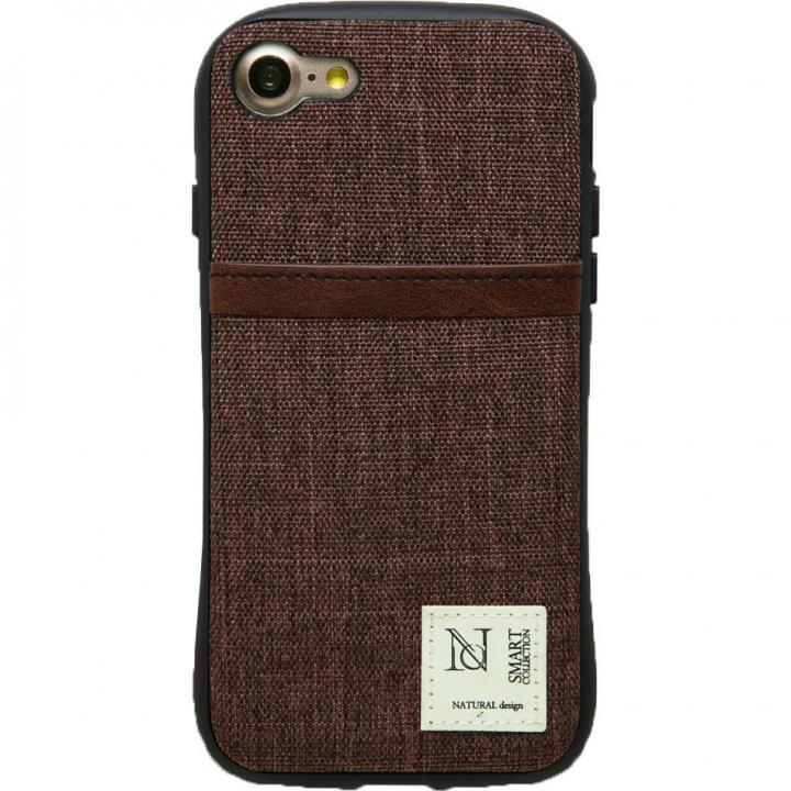 iPhone8/7 ケース 衝撃吸収 背面カードポケット付きケース CAMPANELLA ブラウン/縦入れ iPhone 8/7_0