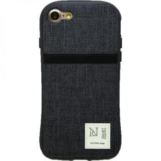 衝撃吸収 背面カードポケット付きケース CAMPANELLA ブラック/縦入れ iPhone 7