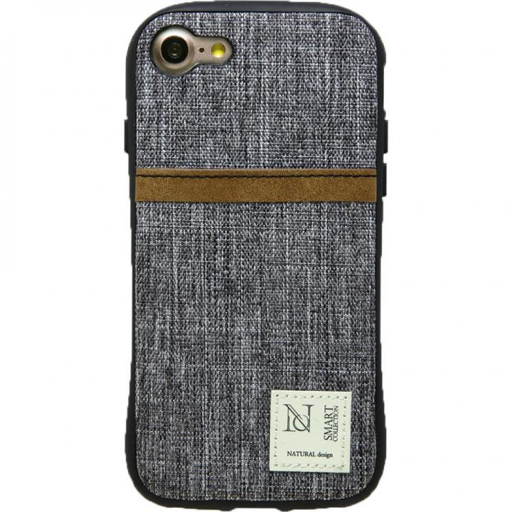 iPhone8/7 ケース 衝撃吸収 背面カードポケット付きケース CAMPANELLA グレイ/縦入れ iPhone 8/7_0