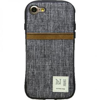 衝撃吸収 背面カードポケット付きケース CAMPANELLA グレイ/縦入れ iPhone 7