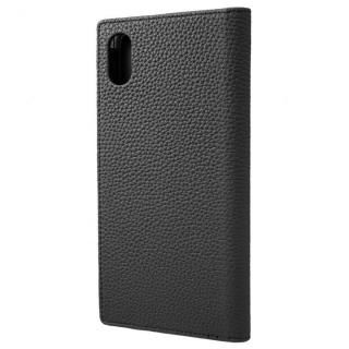 【iPhone XS Maxケース】GRAMAS German Shrunken-calf Genuine Leather Book Case ブラック iPhone XS Max【12月中旬】