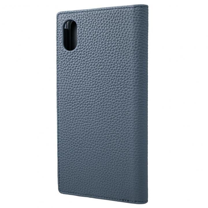 iPhone XS Max ケース GRAMAS German Shrunken-calf Genuine Leather Book Case ネイビー iPhone XS Max【9月下旬】_0