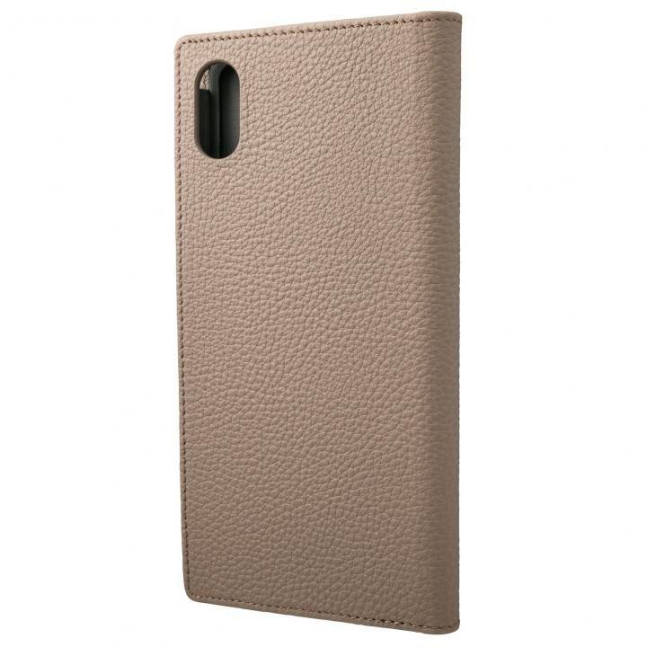 iPhone XS Max ケース GRAMAS German Shrunken-calf Genuine Leather Book Case トープ iPhone XS Max_0