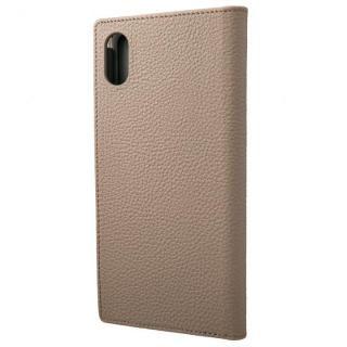 iPhone XS Max ケース GRAMAS German Shrunken-calf Genuine Leather Book Case トープ iPhone XS Max