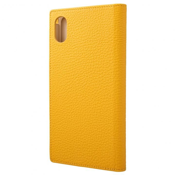 iPhone XS Max ケース GRAMAS German Shrunken-calf Genuine Leather Book Case イエロー iPhone XS Max_0