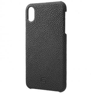 iPhone XS Max ケース GRAMAS German Shrunken-calf Genuine Leather Shell Case ブラック iPhone XS Max